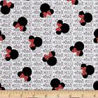 MINNIE MOUSE HEADS AND BOWS LICENSED DISNEY QUILT SEWING FABRIC *Free Oz Post
