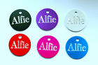 Engraved Personalised Pet Id Dog Puppy Cat Collar Name Disc Disk Tags Post Free!