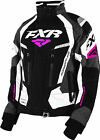 FXR Womens Black/Charcoal/White/Fuchsia Adrenaline Snowmobile Jacket Insulated