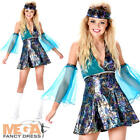 Disco Diva Girl Ladies Fancy Dress 1970s Groovy Womens Adult 70s Costume Outfit