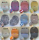 Stretchy Multi-Use Car Seat Canopy Nursing cover Infant baby Beanie CarryingCase