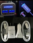OEM Fast Charging Dual USB LED Car charger&Wall charger For Samsung Galaxy S6 S7