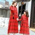 Mother Daughter Lace Party Dresses Family Matching Outfits clothes Mom And Me