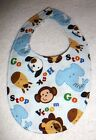 BABY BIBS~BOYS DRESS BIBS~Fabric~Reversible~Washable~Hidden Snap~NEW~FREE SHIP
