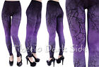 Restyle Purple Gradient Branches Tree Horror Psychobilly Goth Women Leggings