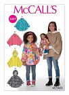 McCalls 7460 Girls Teens Cape Poncho Hood Dolls Sewing Pattern 3-14 Yrs M7460