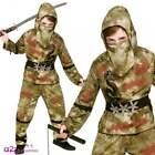 BOYS ZOMBIE NINJA HALLOWEEN MARTIAL ARTS ORIENTAL JAPANESE FANCY DRESS COSTUME