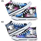 Anime Fairy Tail Lacing Up Printed Cosplay Fans High Ankle Canvas Sneakers Shoes