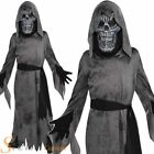 Child Ghastly Ghoul Costume Demon Boys Girls Death Halloween Fancy Dress Outfit