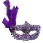 Lace Feather Venetian Masquerade Ball Party Mask Costume Evening Prom Mardi Gras