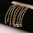 1-10Pcs 18K Gold Plated 2mm Twisted Water Wave Chain Necklace 16-24'' Wholesale