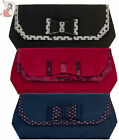 RUBY SHOO BRIGHTON ivy CLUTCH handbag BAG shoulder BLACK NAVY RED