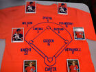 New York Mets 1986 World Champs Tee Shirt 2 Free Cards STRAWBERRY & CARTER