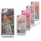 Christmas 3D Dynamic Liquid Quicksand Hard Back Case Cover For iPhone 7 6S Plus