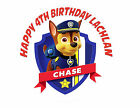 Round Paw Patrol Chase Birthday Party Cake Decoration icing sheet
