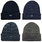 Mens Marl Chunky Knit 3M Thermal Thinsulate Insulated Warm Winter Beanie Hat