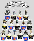 Overwatch Computer Game Birthday Party EDIBLE Cupcake Toppers PRECUT cup cake