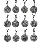 Pewter HOROSCOPE STAR SIGN Pendant on Black Cord Necklace Nickel Free Zodiac