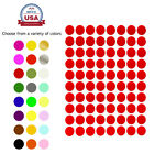 "1/2"" Half Inch Circle Labels 17 Colors Available 15 Sheets Small Dots 1200 Pack"