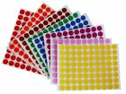 13 mm 1/2 Inch Round Labels Small Dots Stickers Permanent Adhesive 1200 Pack
