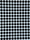 Black 3/8 inch Colored Coding Labels 10mm Round Circle Stickers Small Dots Sheet