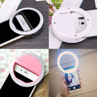Universal Selfie LED Ring Flash Fill Light Clip Camera For Phone iPhone Samsung