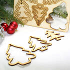 15PCS Wooden Shape Christmas Tree Hanging Decor Party Home Decoration Craft