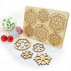 12PC Wooden Shape Christmas Snowflake Hanging Decor Party Home Decoration Craft