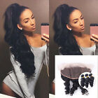 Burmese Virgin Hair Loose Wave 13x4 Lace Closure Ear to Ear with 3 Bundles