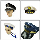 Party Fancy Dress Pilot Navy Captain Police Marine Cap Hats