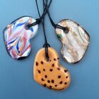 Murano glass heart pendants. Choice of 3. Bronze silver foil. Irish jewellery