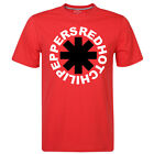 Red Hot Chili Peppers Logo Print Asterisk Red Men's T-shirt Cotton Mens Clothing