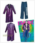 Psycho Killer The Joker Outfit Set Batman Halloween Mens Costume Pants OverCoat