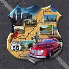 Ceramic Tile Mural Backsplash Todd Illinois Route 66 Shield Art POV-JTA012
