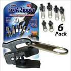 Removable 6Pcs Fix Zipper A Zip Slider Rescue Instant Repair Kit Replacement