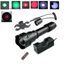 T20 Zoomable Green Red 850 940 Infrared Light Night Vision Hunting Flashlight