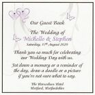 1 Handmade Personalised Vintage Wedding Guest Book Sign - Many Colours  *AS*