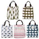 Portable Canvas Tote Bag Thermal Lunchbox Case for Picnic Office School Camping