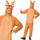 Adult Reindeer Jumpsuit Christmas Party Rudolf Fancy Dress Costume Smiffys 26951