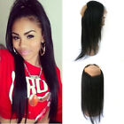 360 Lace Band Frontal Closure Brazilian Virgin Hair Straight Natural Hairline