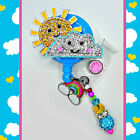 """Sun and cloud """"Sunny Day"""" ID reel Badge holder~Gorgeous Ultimate Bling Badge~"""