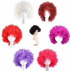 Halloween Funny Vintage Afro Clown Short 7Colors Display Party Wig for Men Women
