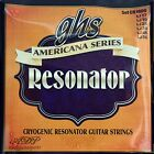 CORDES GHS 6 STRINGS RESONATOR Americana serie Acier Inox Boucle-LoopEnd CR1600