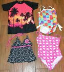 Girls Swimwear Tankini & Shirt NEW One Piece Suits PreOwned Sizes 8-16 Free Ship