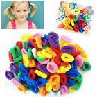 100 Mini Hair Ponios Ponios Endless Elastics Bobbles Bands Baby Girl Hair Bands