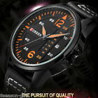 HX 1PC Man Sport Watch Leather Band Calendar Double Scale Leisure Watch Gift