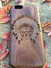 For iPhone 7 6s Plus 6 plus Native American Indian Wood Phone Case  Protector