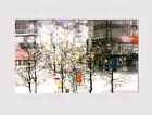 535A LARGE CANVAS MULTI WALL ART ABSTRACT WINTER CITY TREE ROOM Print picture