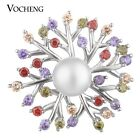 Pearl CZ Stone Vocheng Snap Charms Luxury 6 Colors 18mm Copper Material Vn-1636