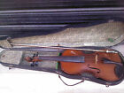 VINTAGE ANTIQUE OLD 4/4 BULGARIAN made CREMONA VIOLIN with BOW&CASE.LABELED.